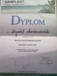 Dyplom Sanplast